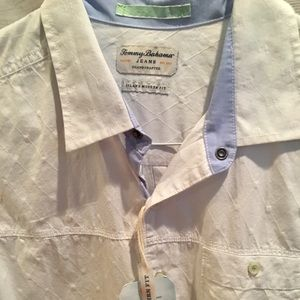 TOMMY BAHAMA White cotton button-down